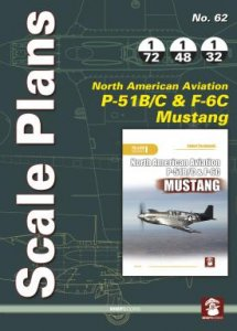 Scale Plans No. 62 NAA P-51 B/C & F-6C Mustang